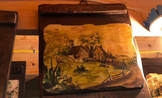 real Ed Warren painting of a supposedly haunted barn