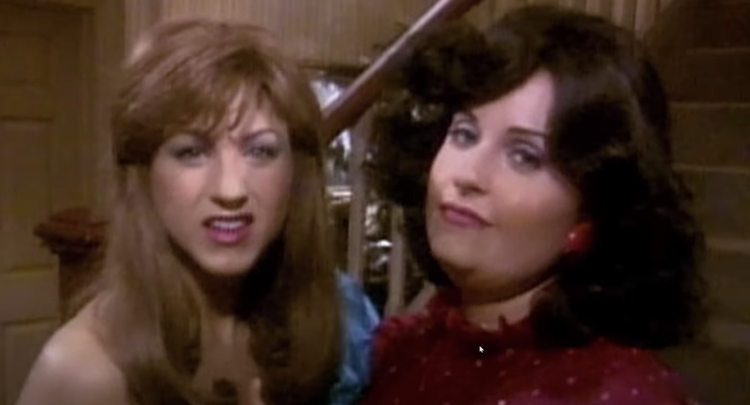 Rachel and Monica in the prom video