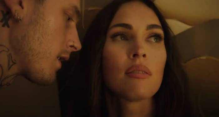 MGK inches closer to Megan in a screenshot from the film
