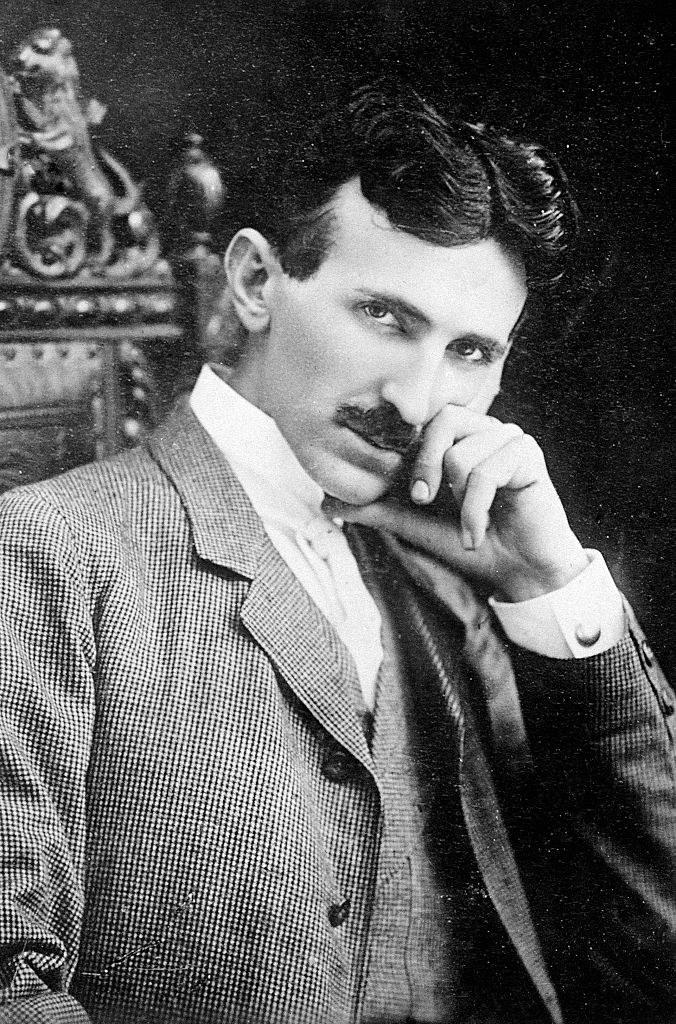 A young Nikola Tesla posing for the camera