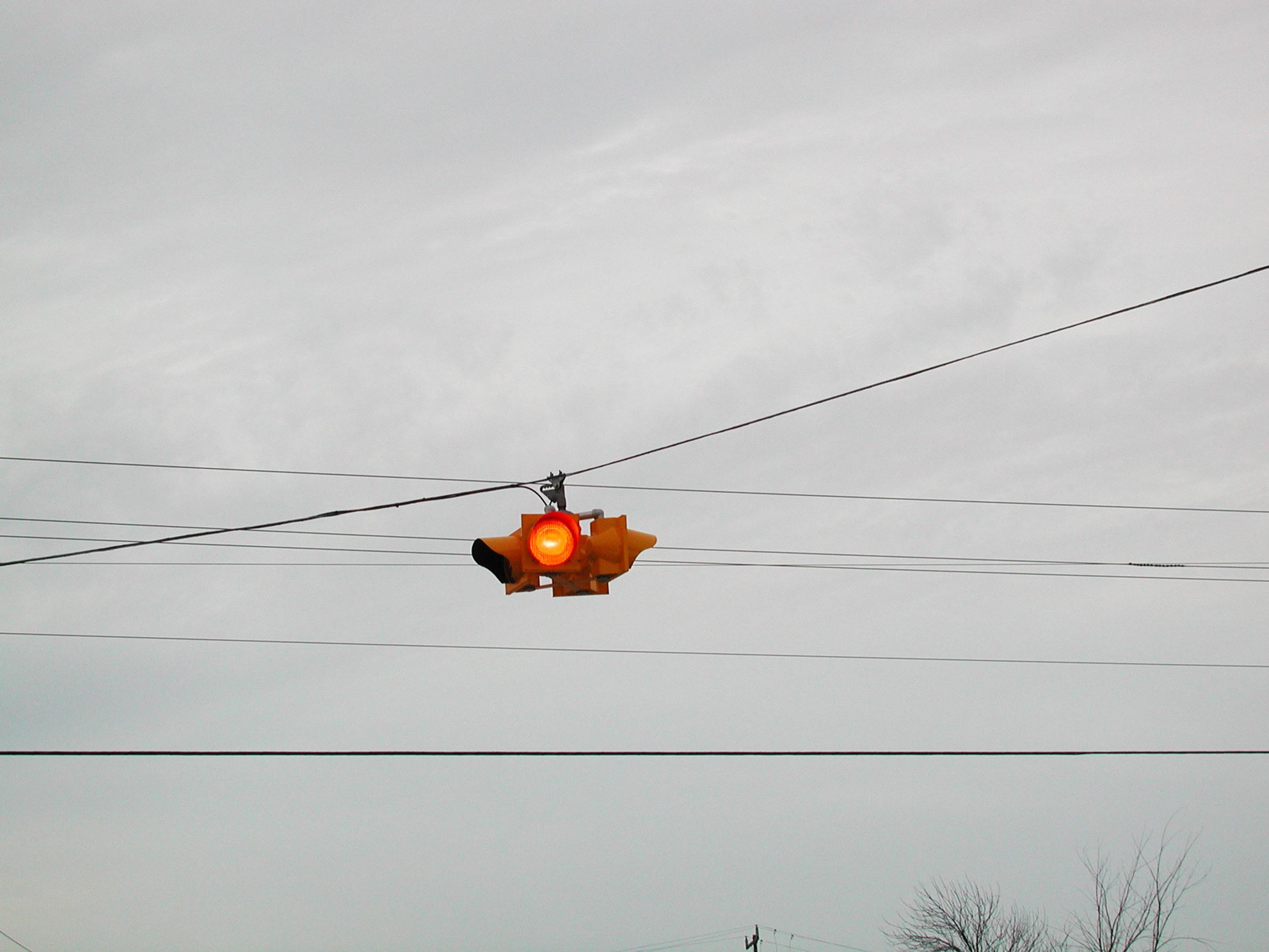 a red light