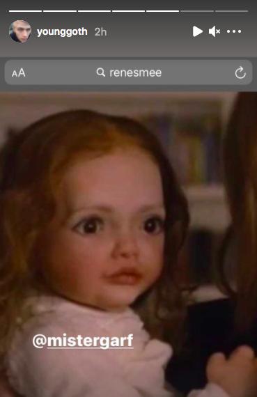 creepy looking image of baby Renesmee