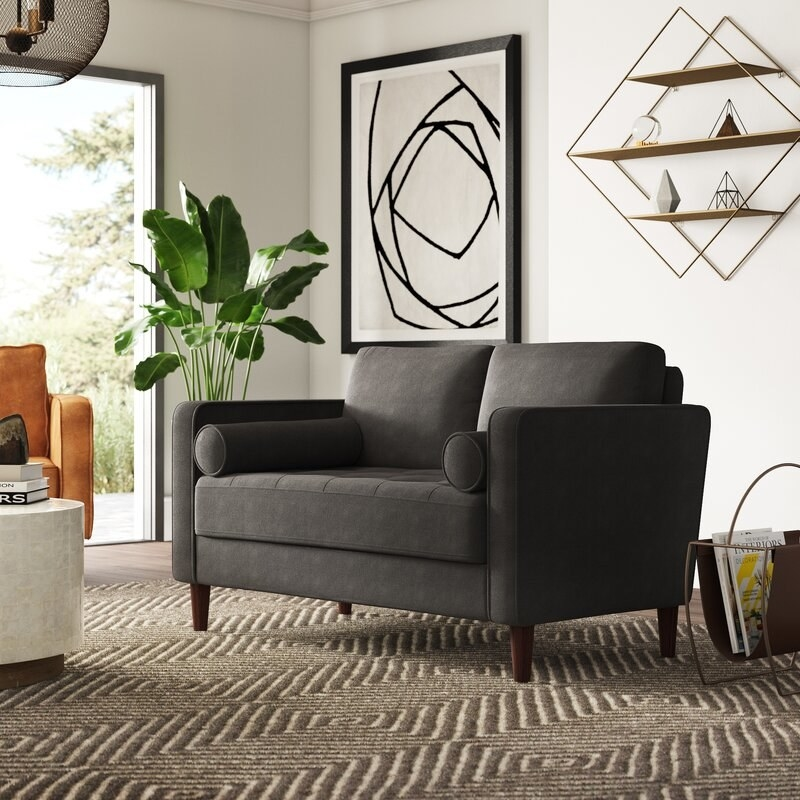 The couch in gray