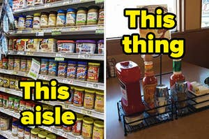 the peanut butter aisle and hot sauce