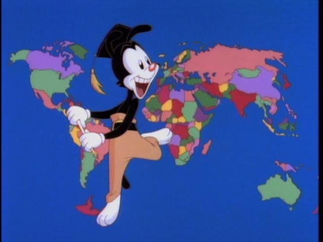 Screenshot of Yakko's World video
