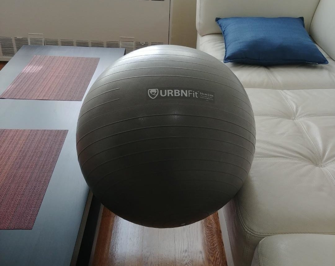 Review photo of the silver stability ball