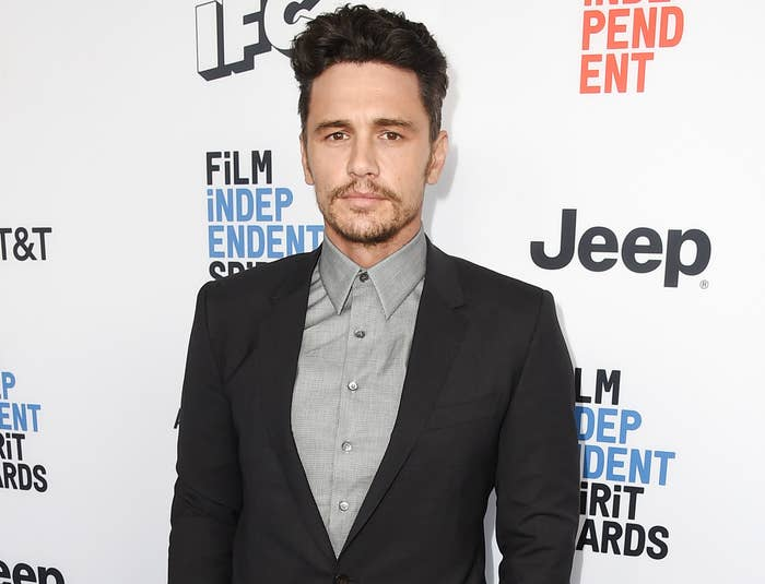 James on the red carpet at the Independent Spirit Awards