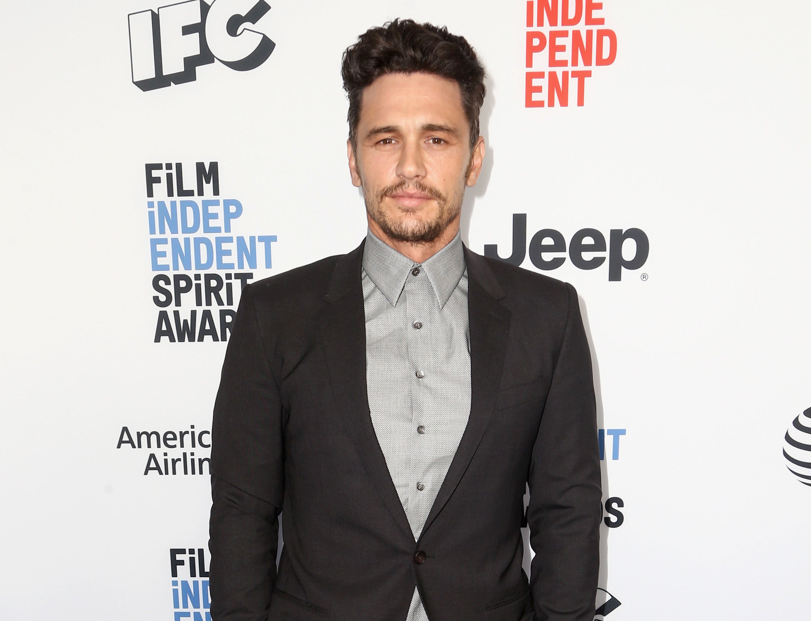 James on the red carpet