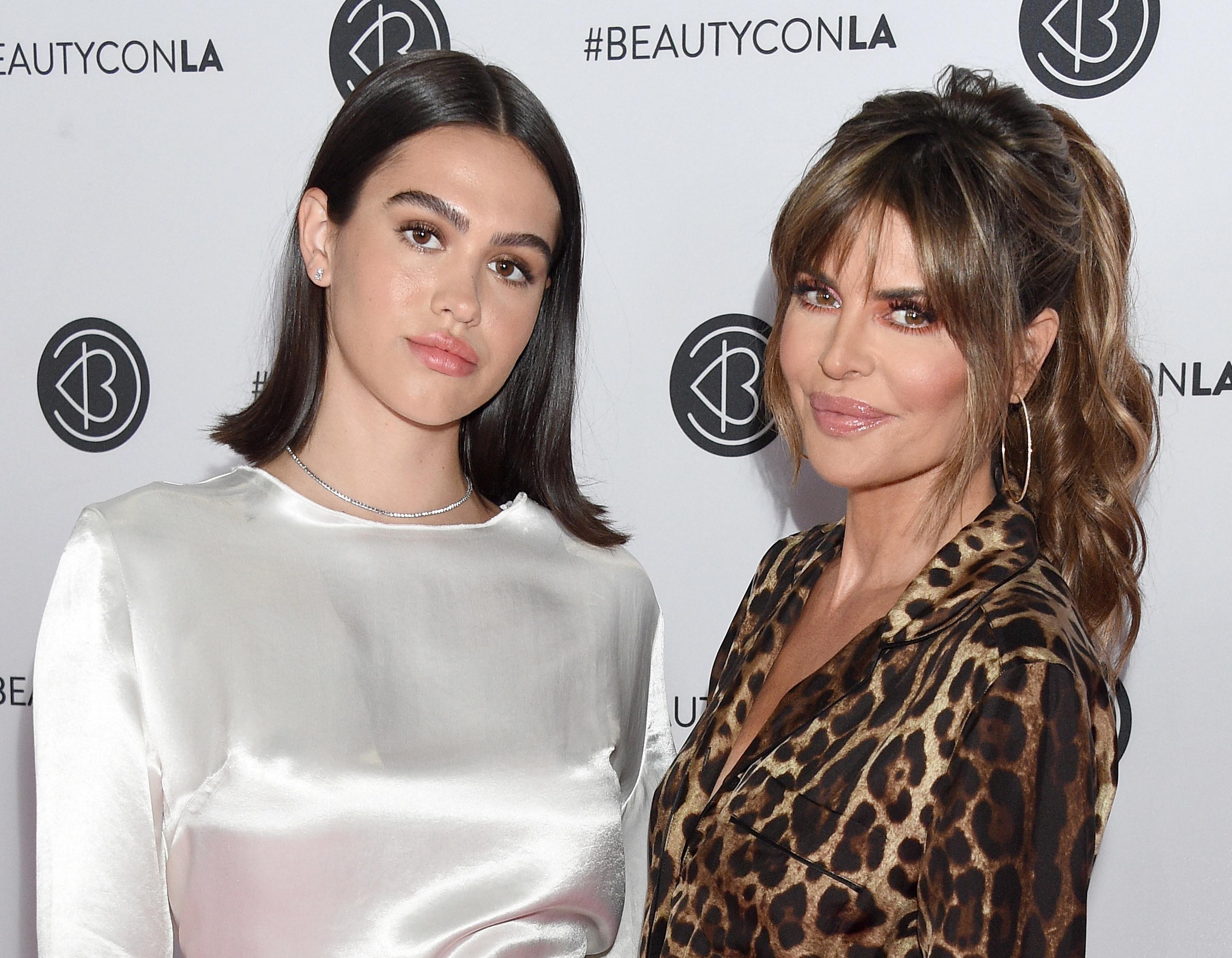 Amelia Gray Hamlin and Lisa Rinna attend Beautycon Los Angeles 2019 Pink Carpet at Los Angeles Convention Center on August 10, 2019 in Los Angeles, California
