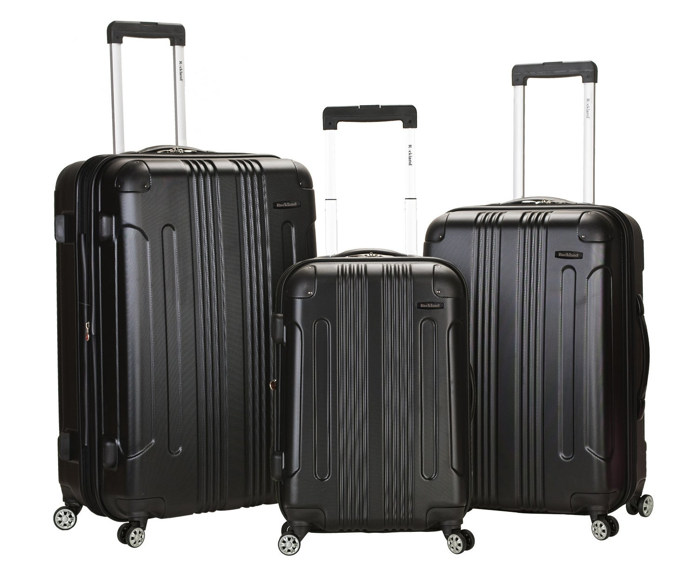 Rockland three-piece luggage set in black