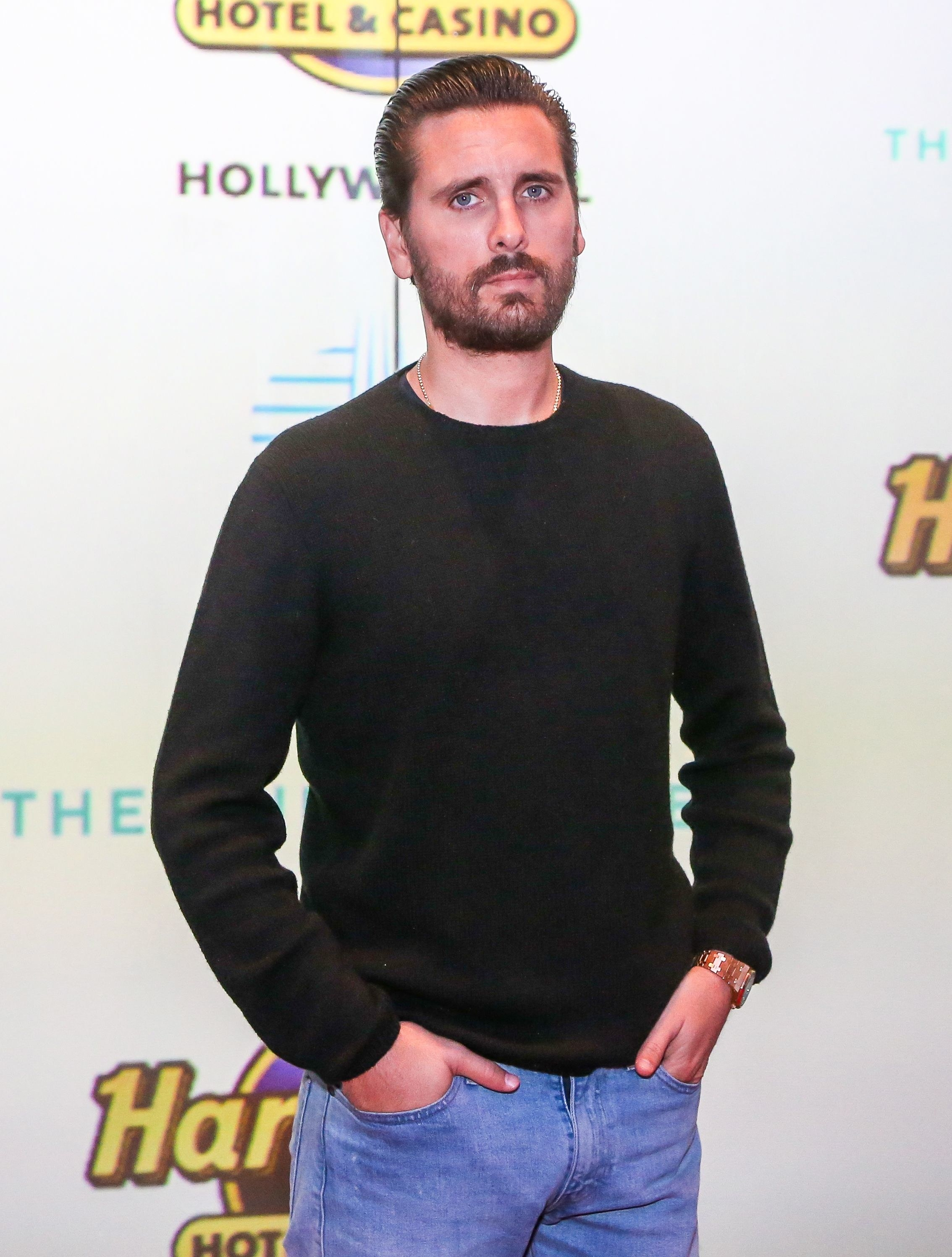 US media personality Scott Disick attends the Grand Opening of the Guitar Hotel expansion at Seminole Hard Rock Hotel & Casino Hollywood, in Hollywood, Florida, October 24, 2019