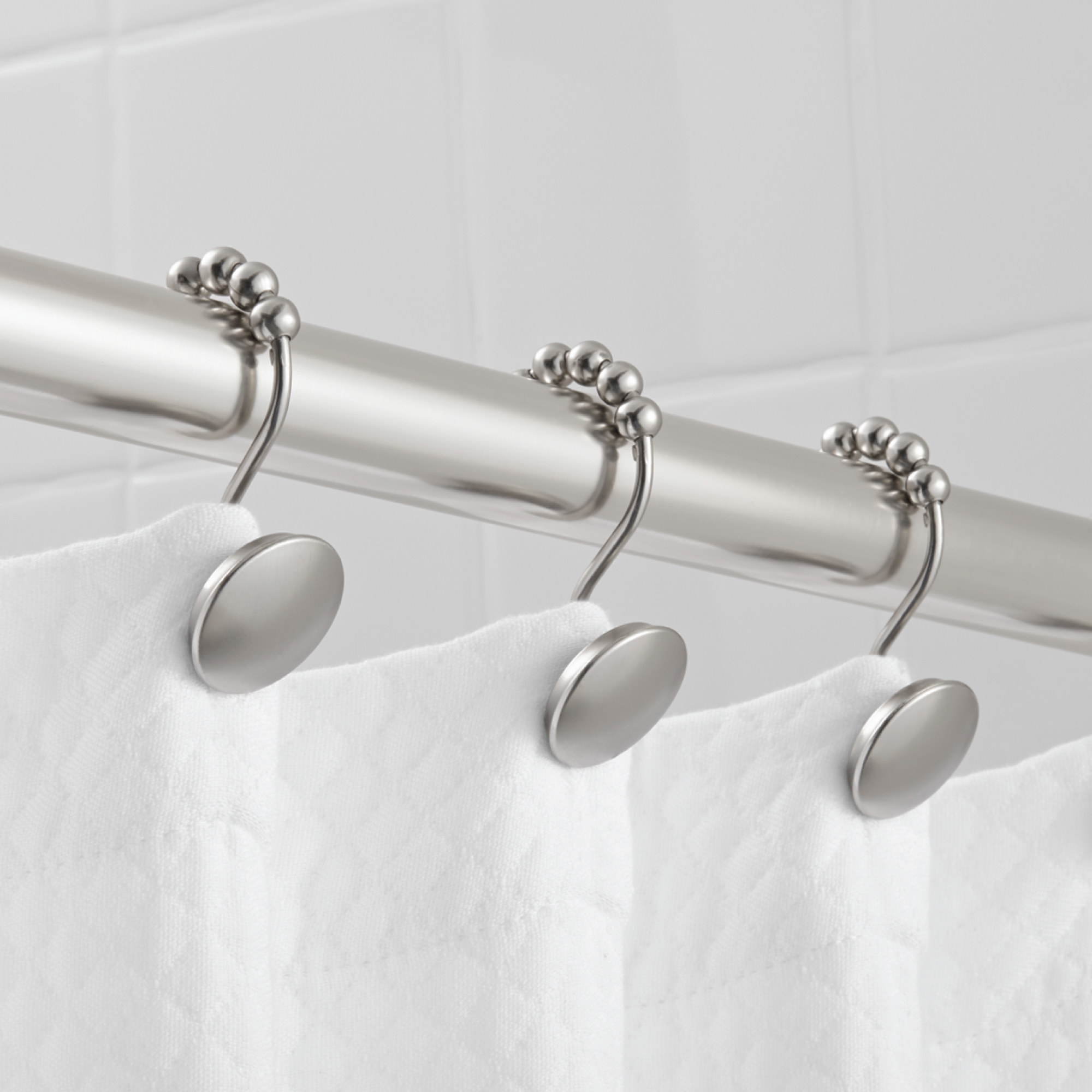 The non-rust shower curtain hooks