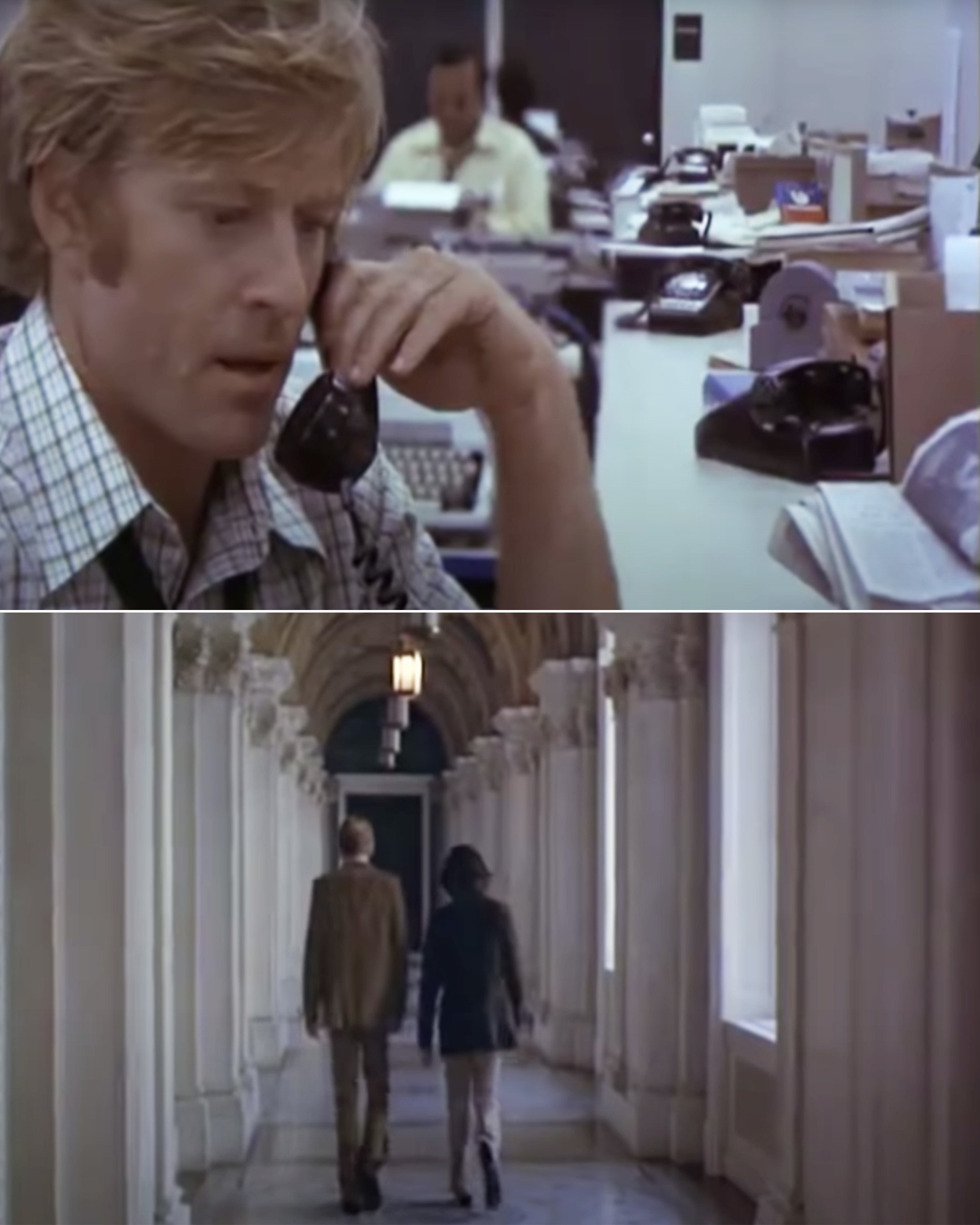 Bob and Carl working in All the President's Men
