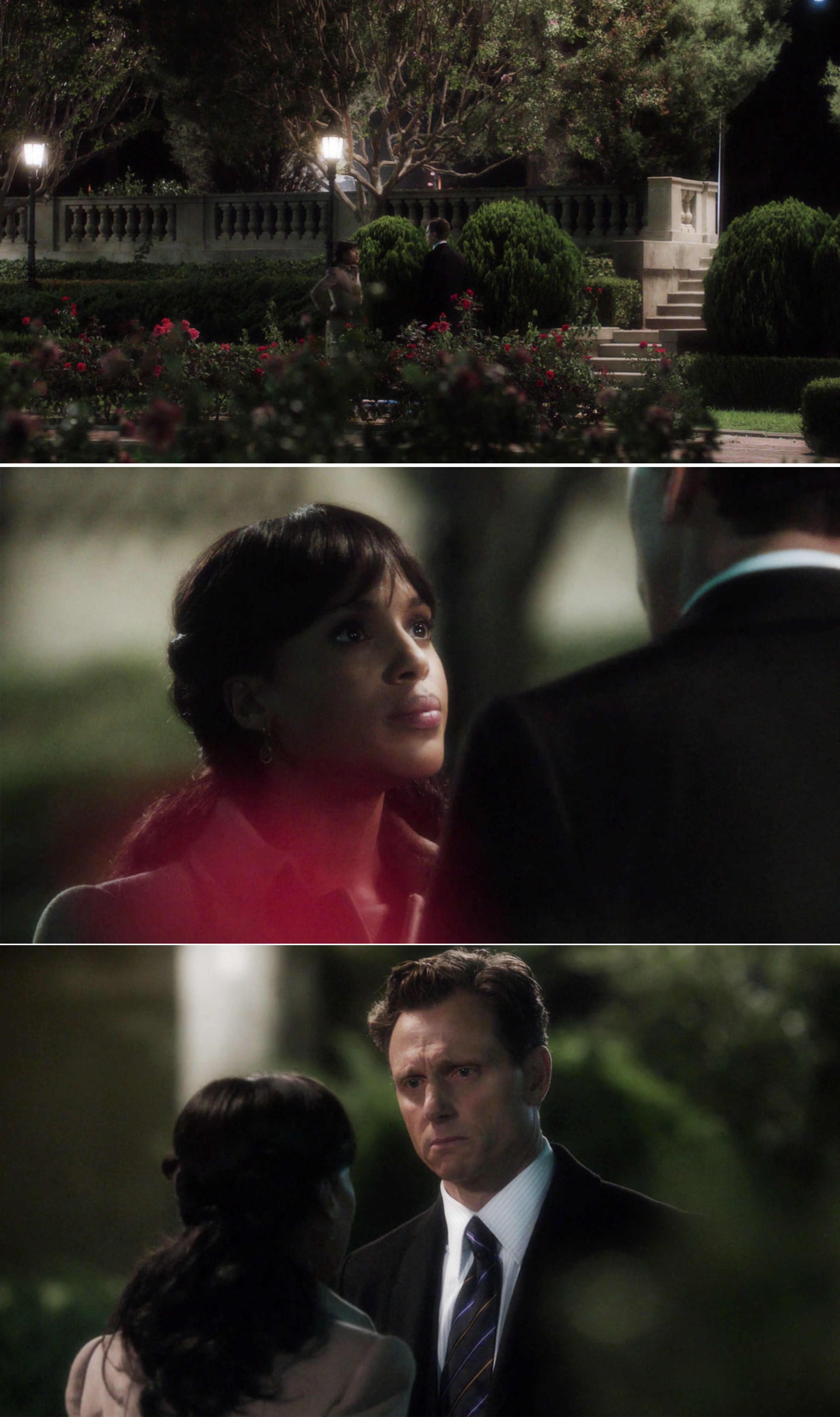 Olivia and Fitz talking in the Rose Garden