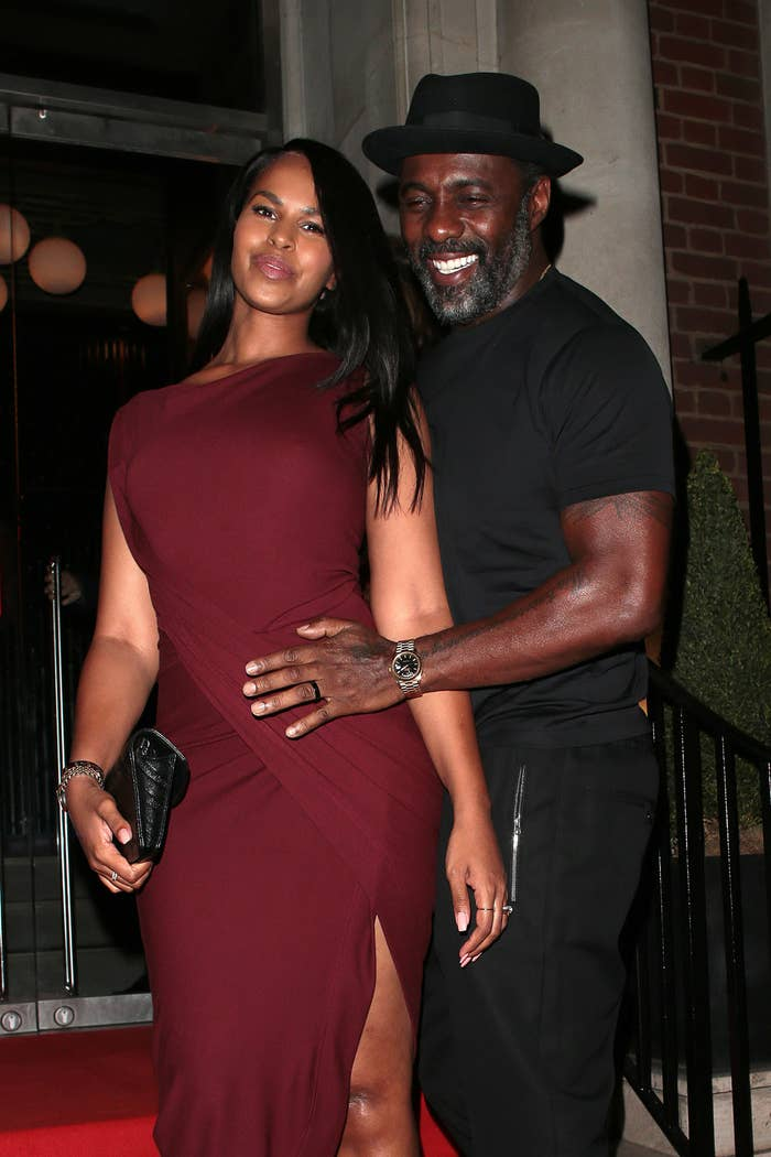 Sabrina Dhowre Elba and Idris Elba at Lucky Cat byGordon Ramsay  launch party in London