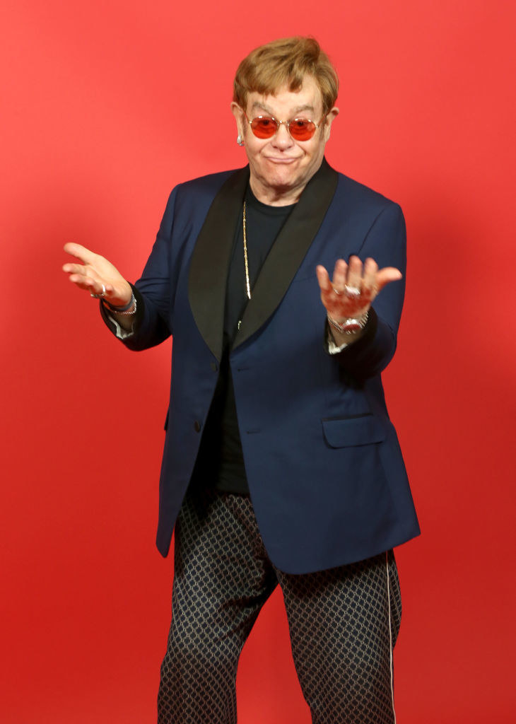 Elton John attends the 2021 iHeartRadio Music Awards in 2021