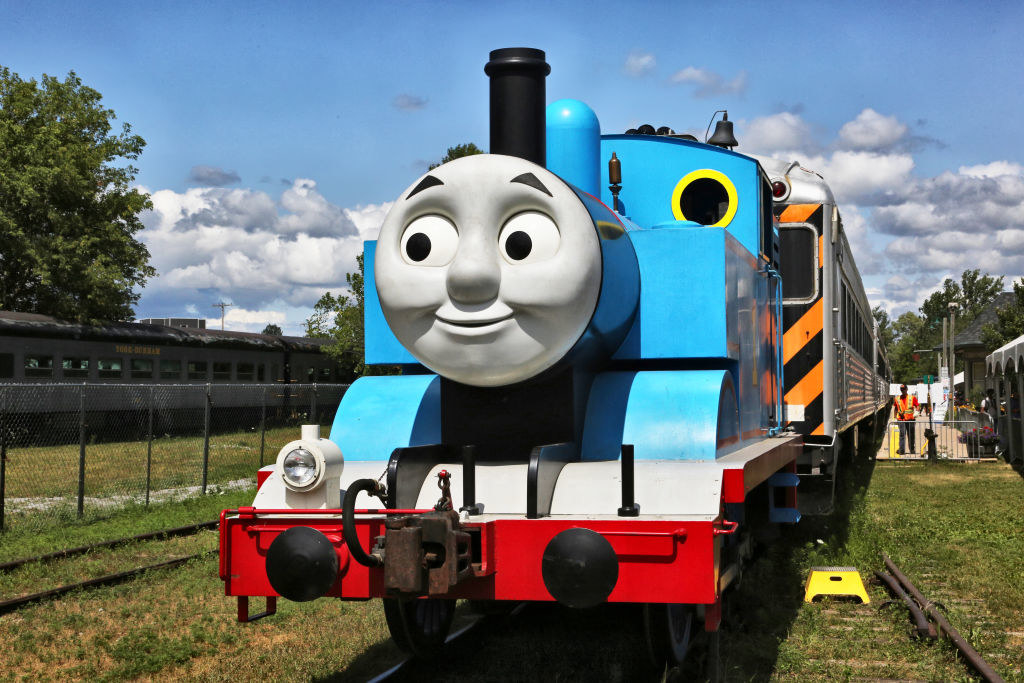 A real-life replica of Thomas the Tank Engine