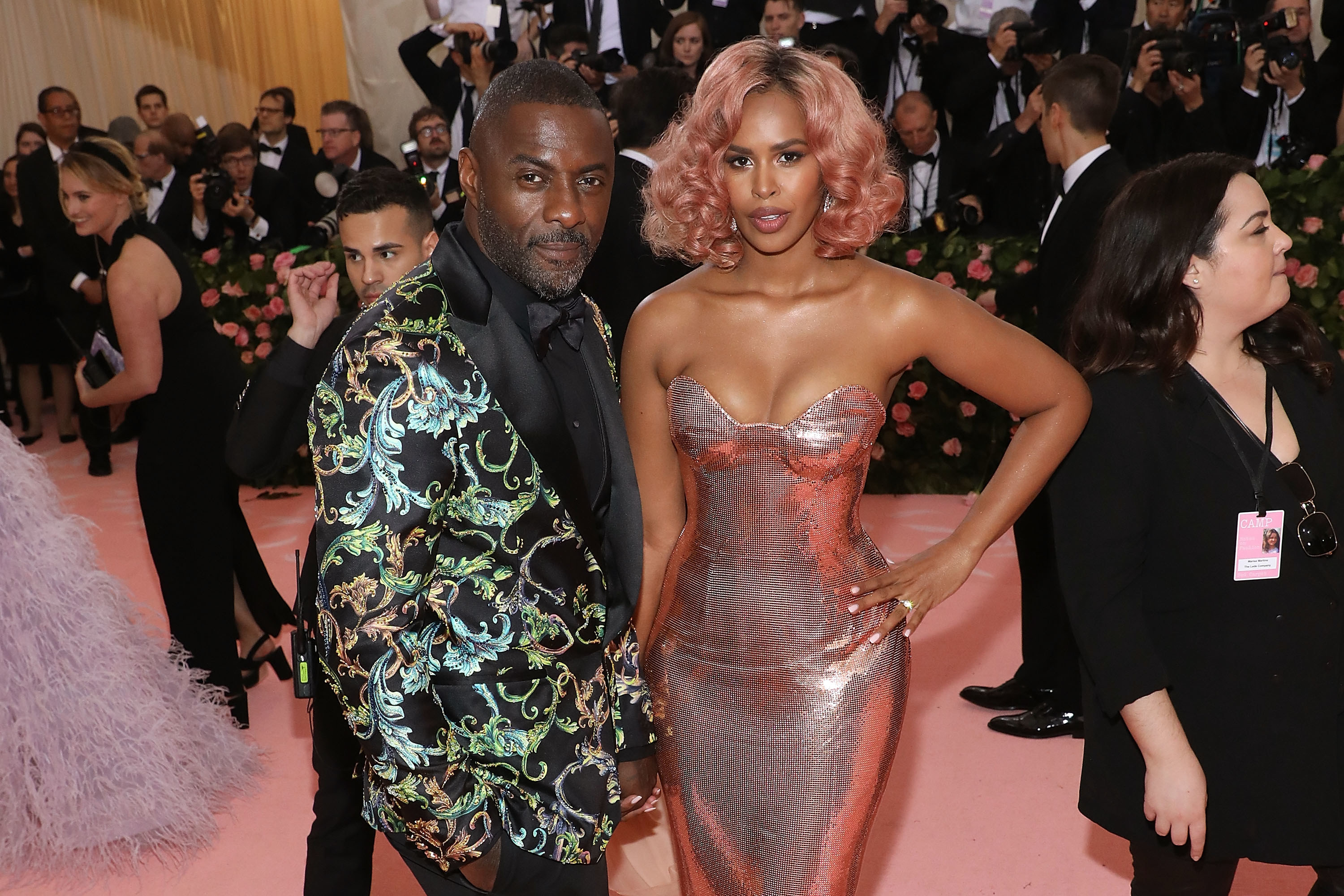 """Idris Elba and Sabrina Elba attend the 2019 Met Gala celebrating """"Camp: Notes on Fashion"""" at the Metropolitan Museum of Art in New York City"""