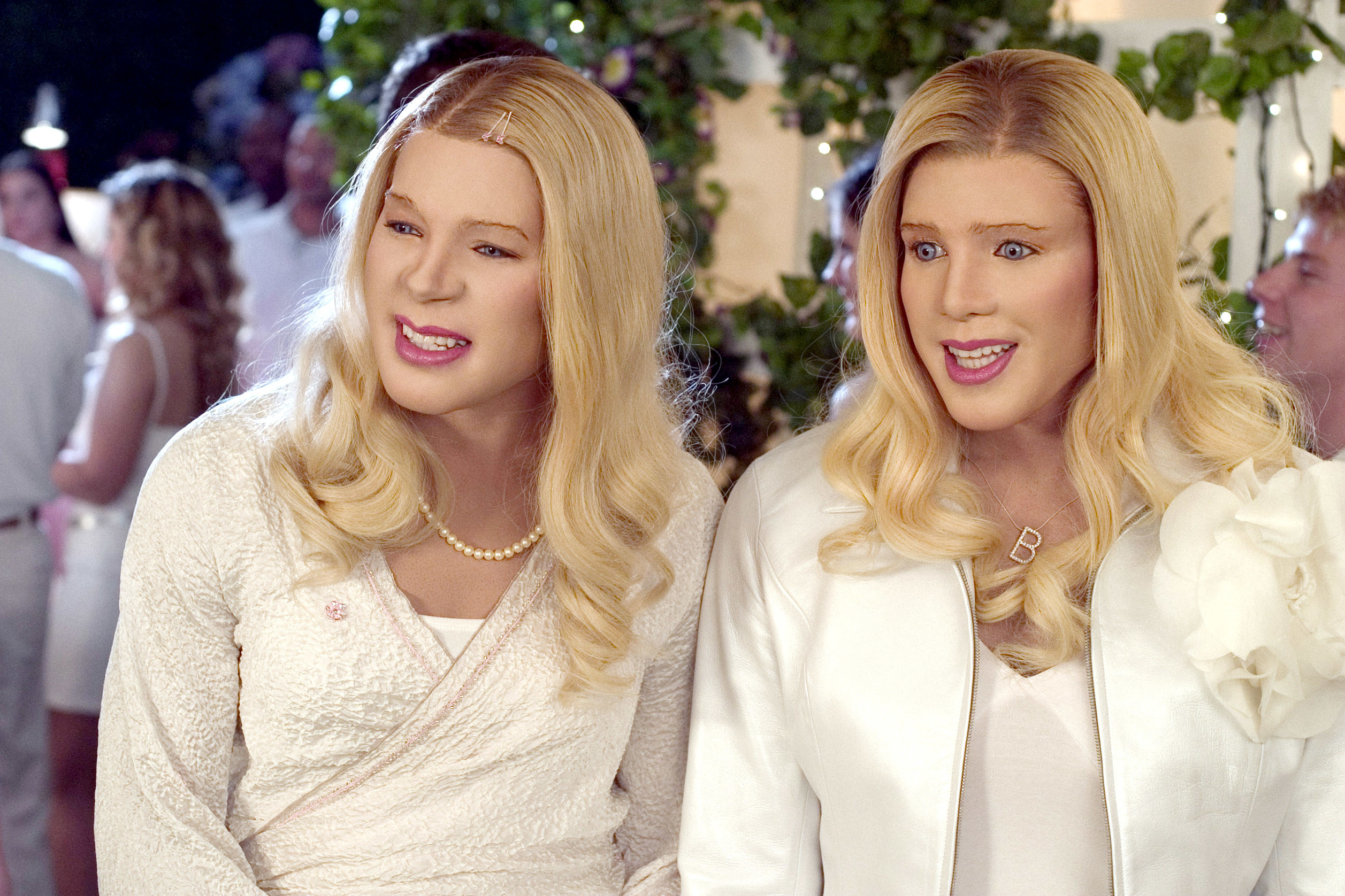 Marlon and Shawn as two white chicks, with long blonde wigs