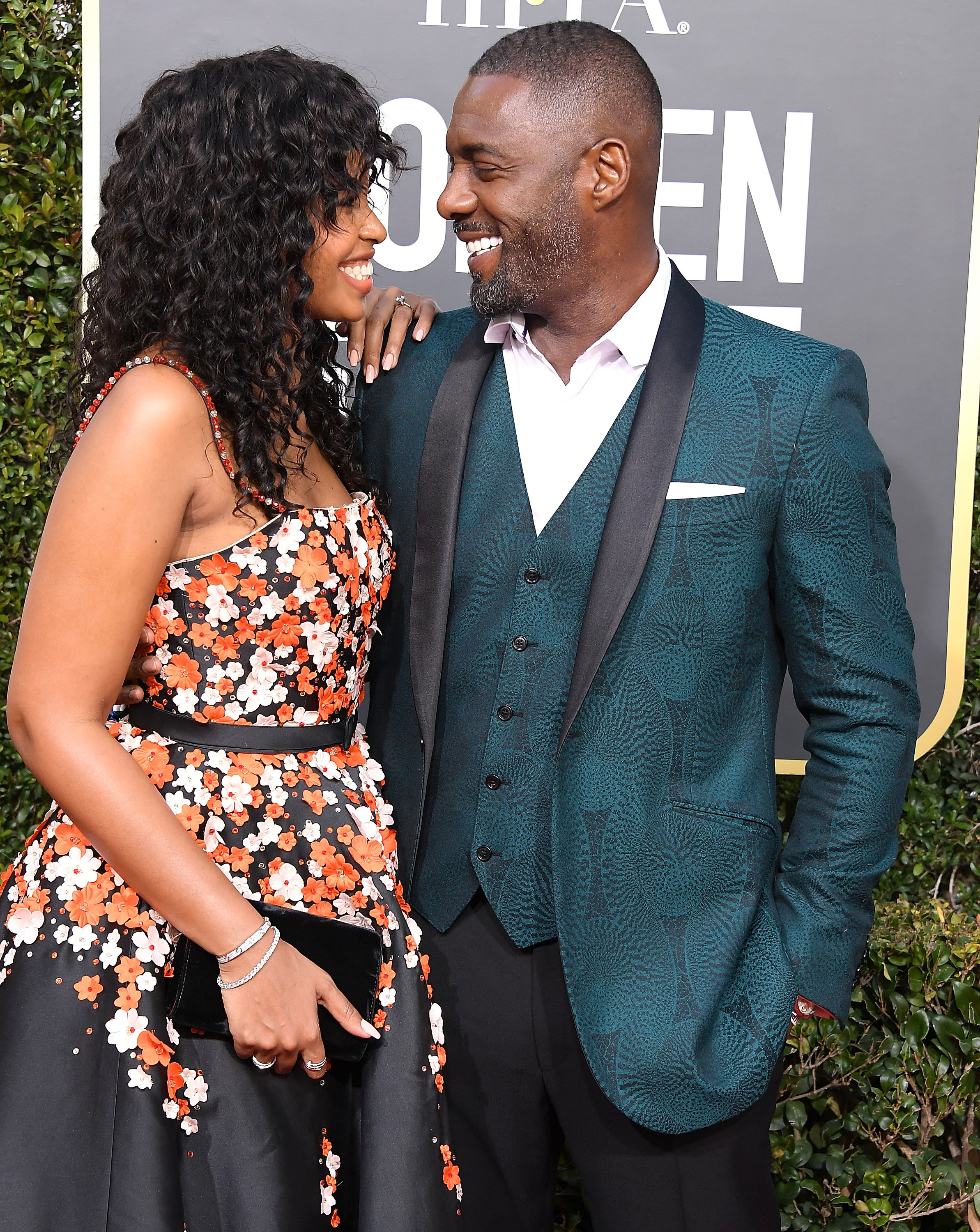 Sabrina and Idris at the 76th Annual Golden Globe Awards in Beverly Hills