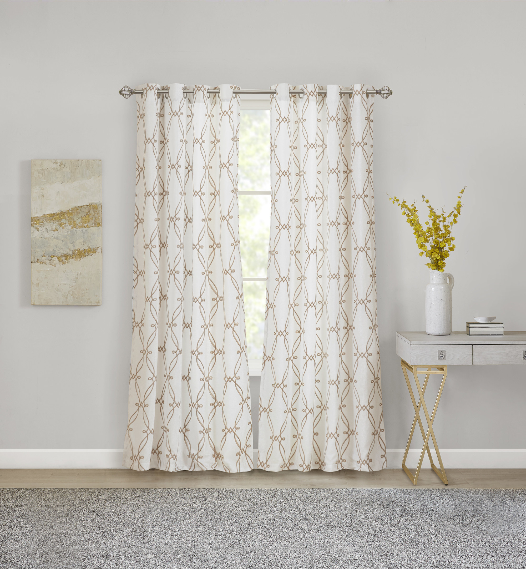 the curtain panel