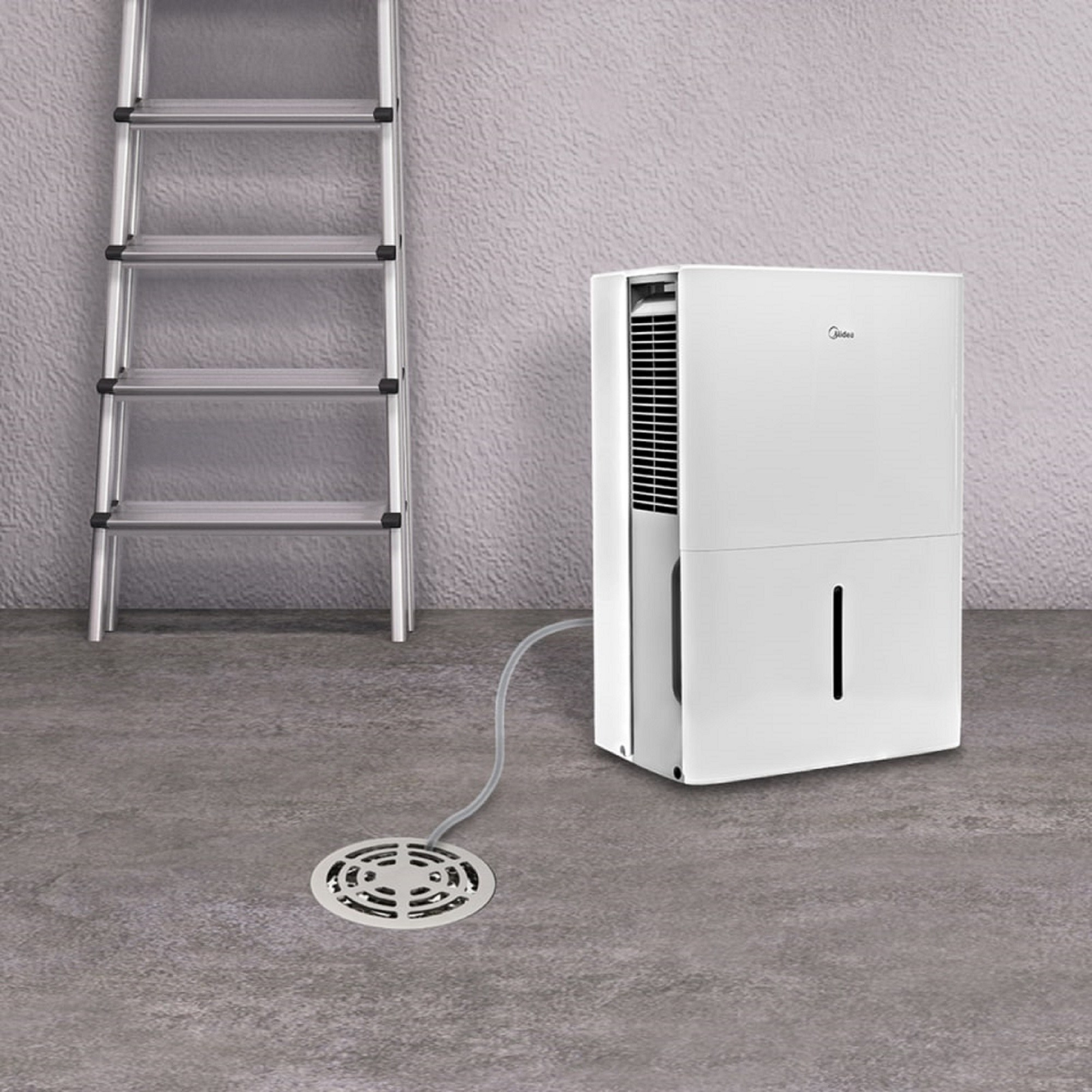 The white and gray dehumidifier