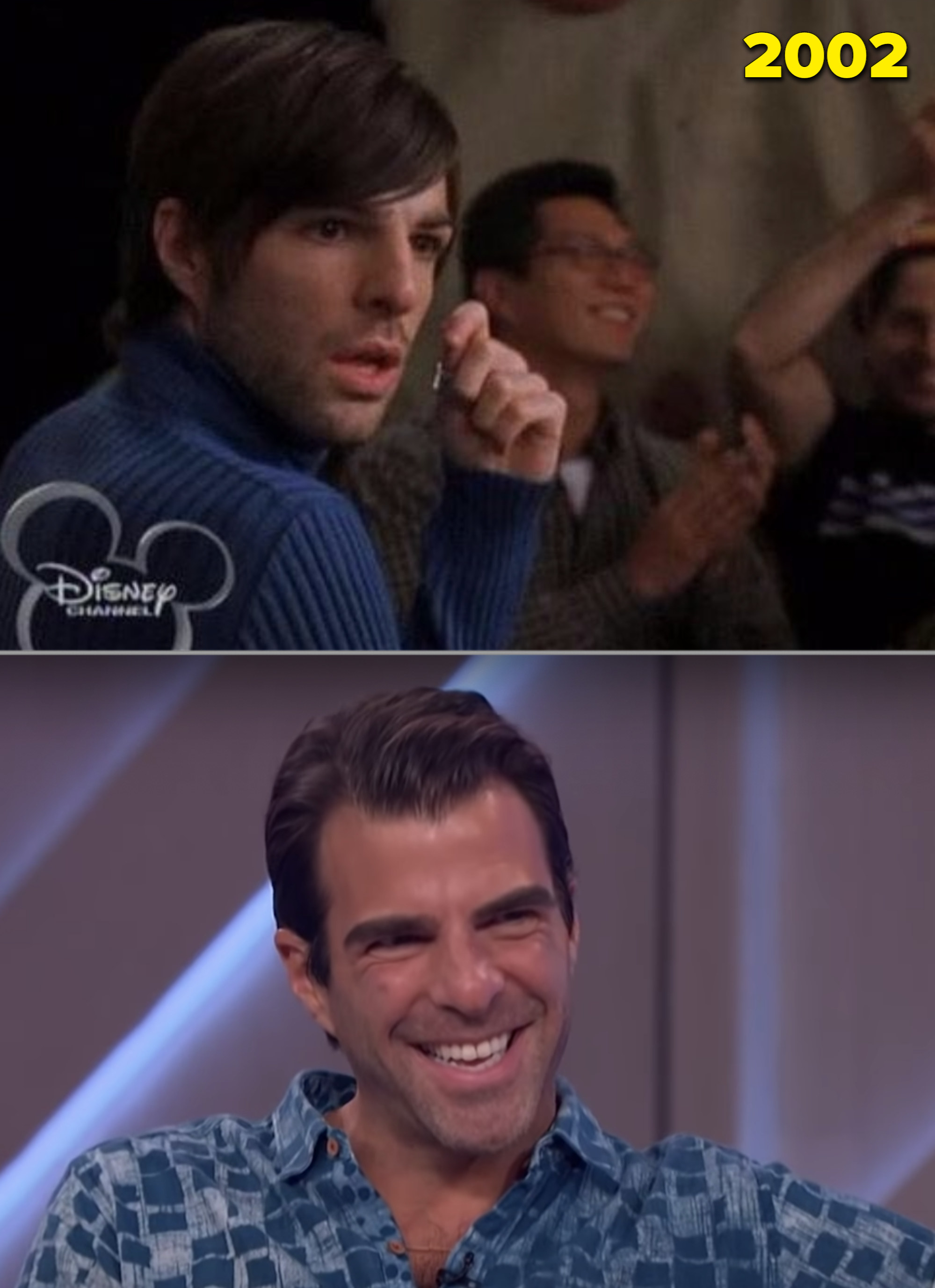 """Zachary Quinto on """"Lizzie McGuire"""" vs. being interviewed in 2020"""