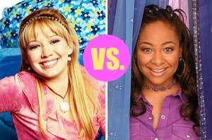 lizzie mcguire on the left and raven on the right