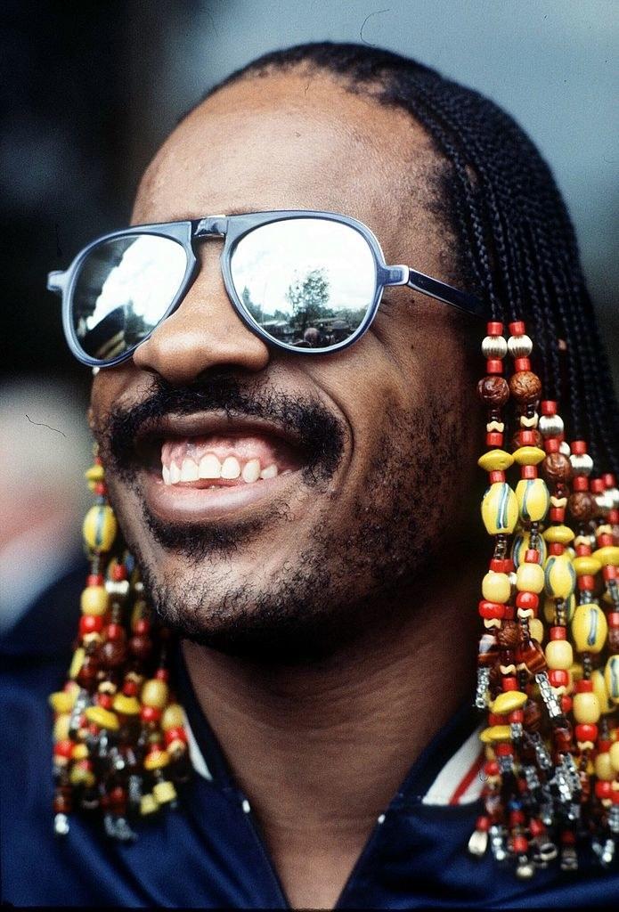 Stevie Wonder visiting Melbourne in 1981