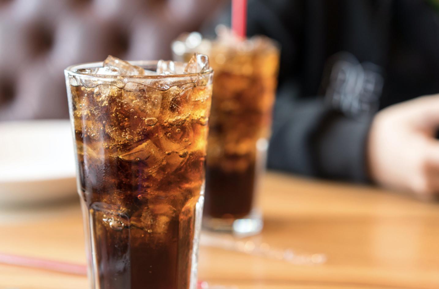 Sodas on a table