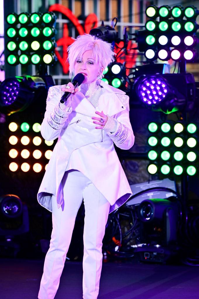 Cyndi Lauper at New Year's Rockin' Eve in 2020-21