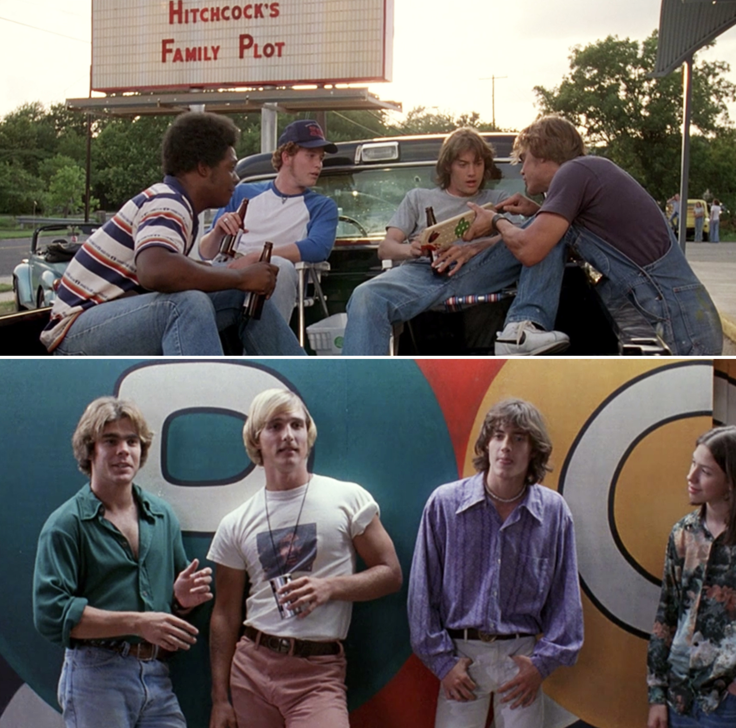 The cast of Dazed and Confused