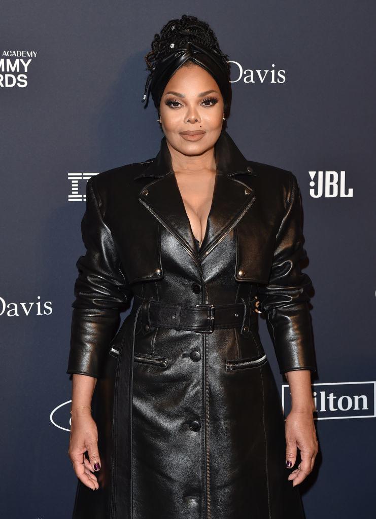 Janet Jackson at Clive Davis' pre-Grammy gala in 2020