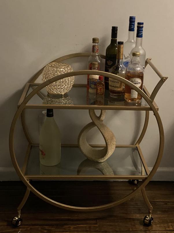 reviewer image of bar cart