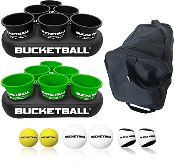The Bucketball game set on display