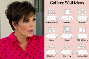Shocked Kris Jenner, and different setups for gallery walls