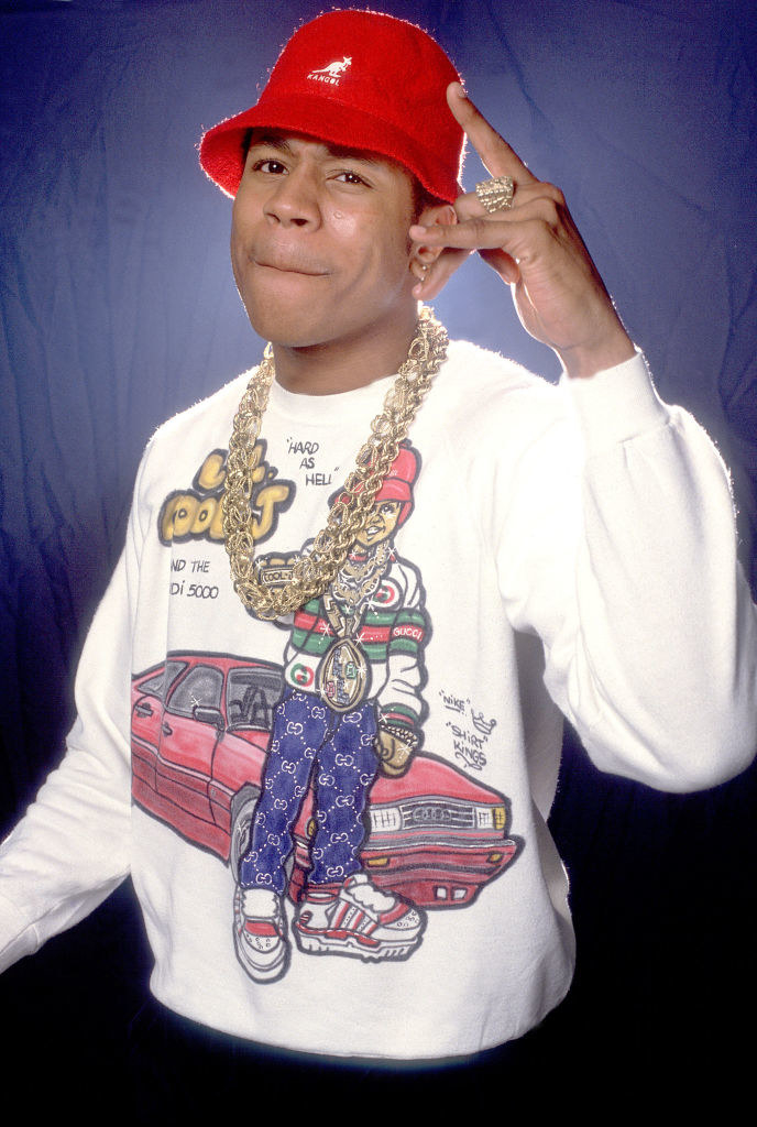 LL Cool J posing for a portrait in 1987 in Chicago