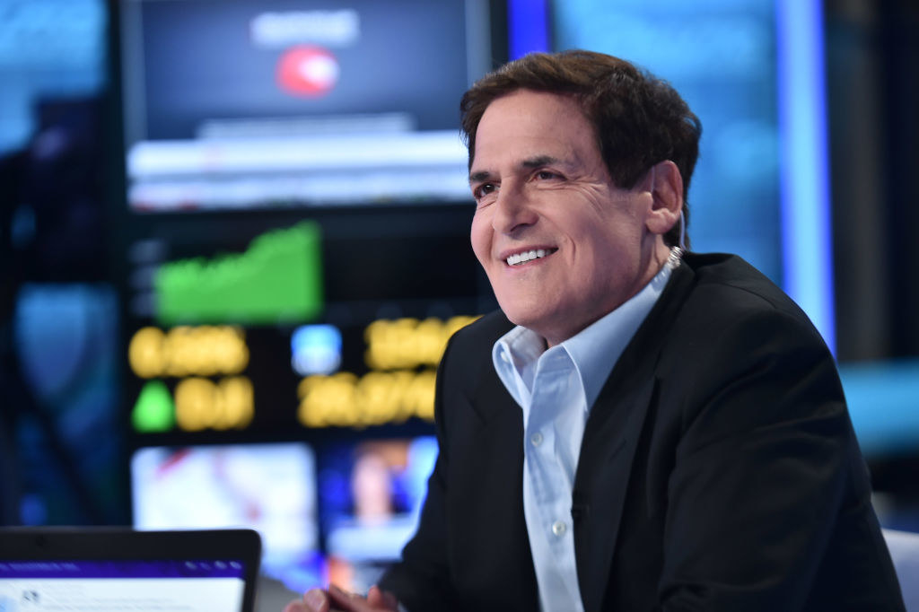 Cuban on a show at Fox Business Network Studios