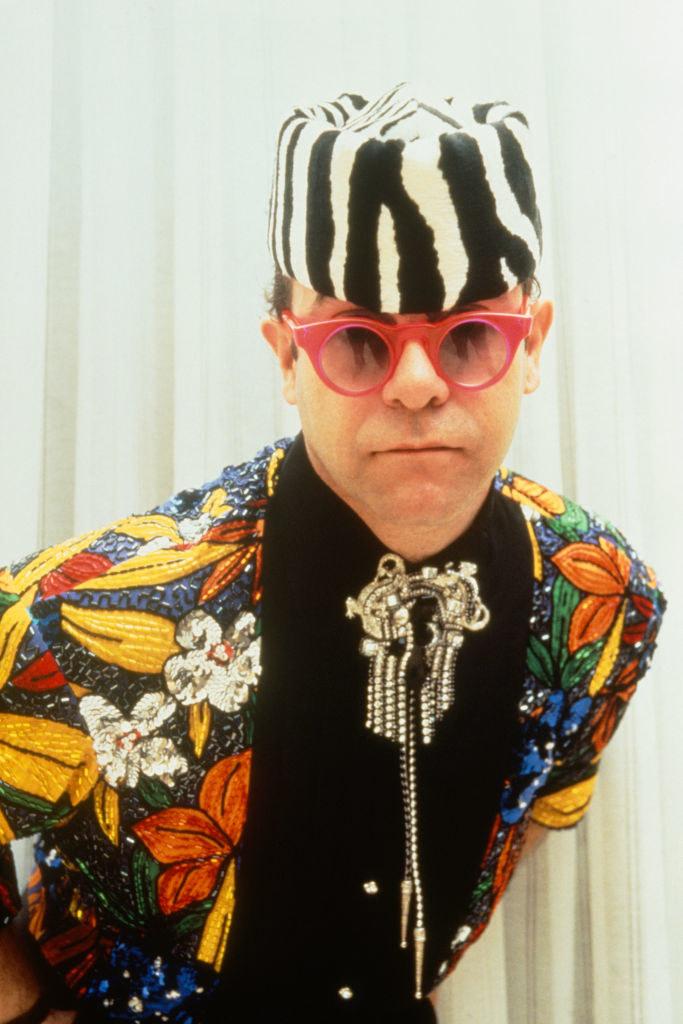Elton John at the Victoires de la Musique ceremony in 1989