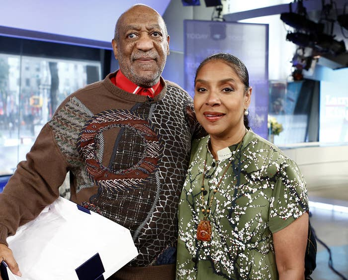 Phylicia and Bill pose together at an event before he went to prison