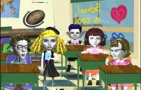 Creepy-looking animated children