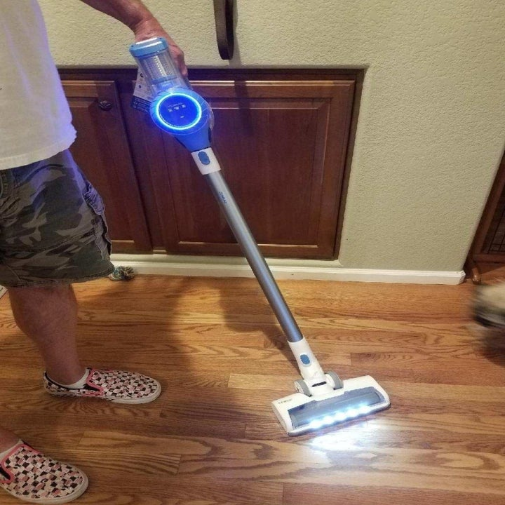 the vacuum in use