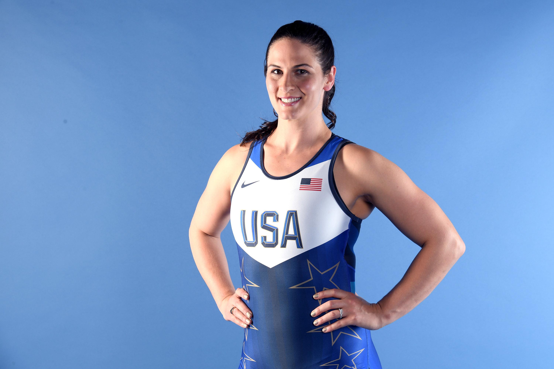 Adeline Gray in USA wrestling gear