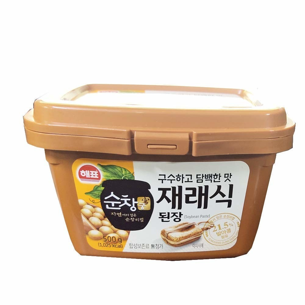 A tub of 500gm of soybean paste.