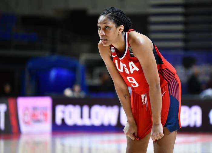 A'ja Wilson on the basketball court