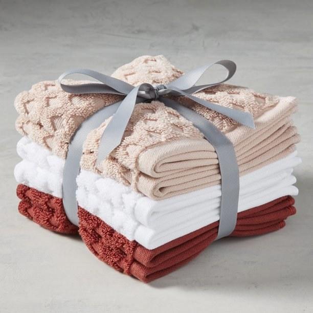 The cherry blossom six-piece washcloth bundle