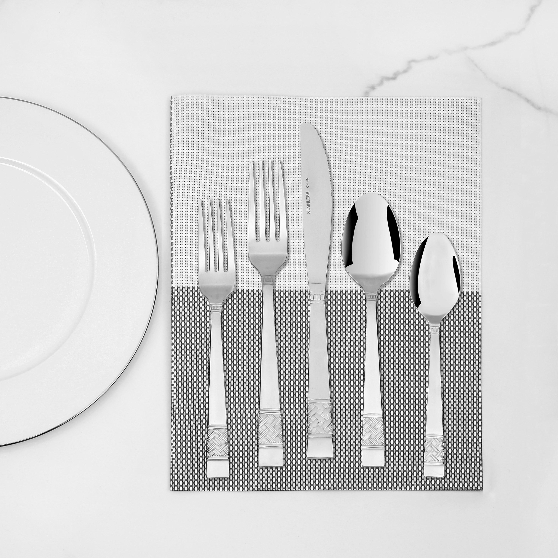 The Pierremontpolished stainless steel tableware flatware set