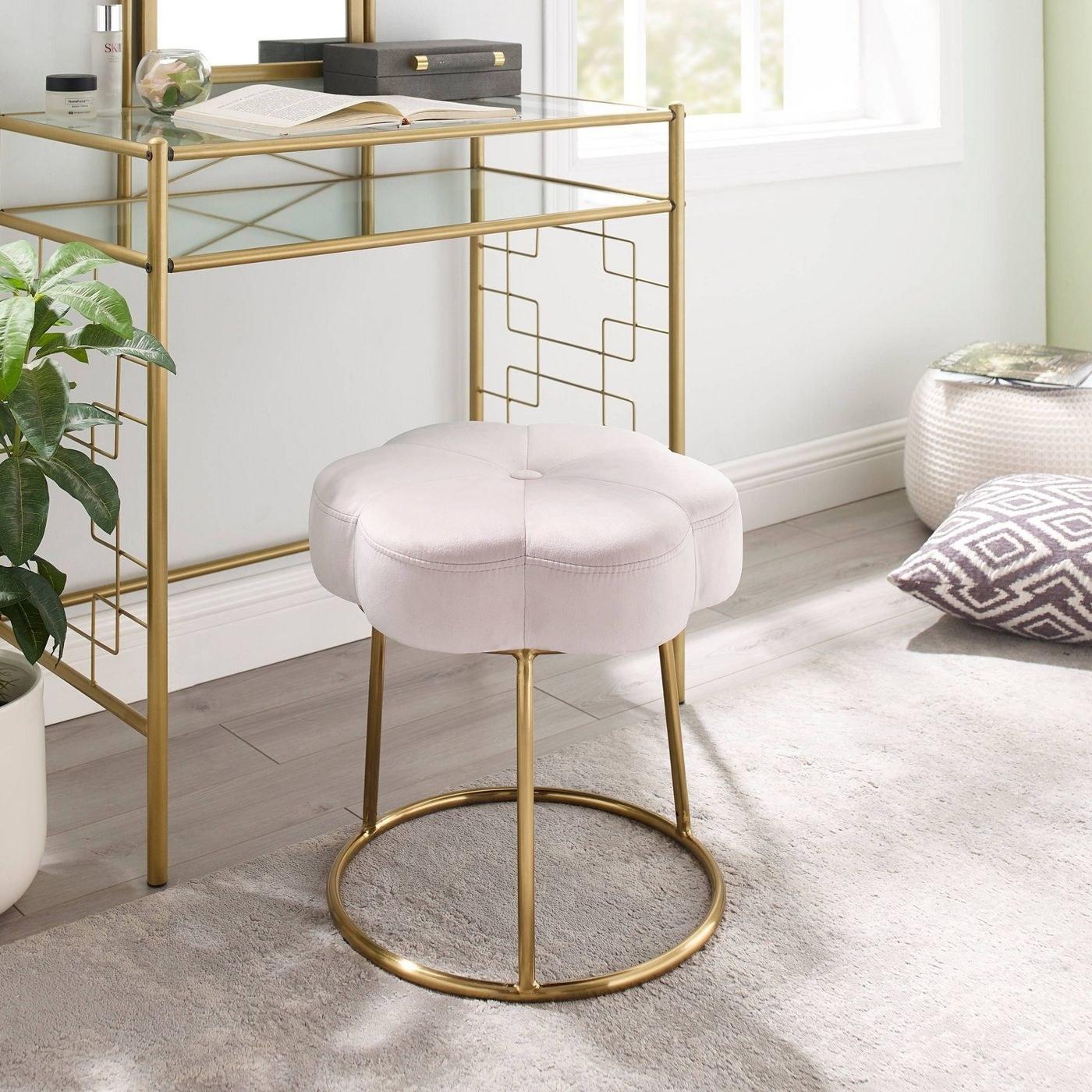 The pinkvanity accent stool