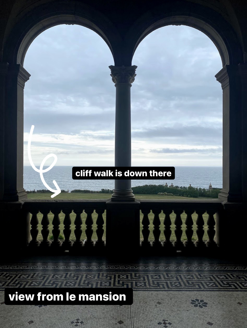 view from the mansion