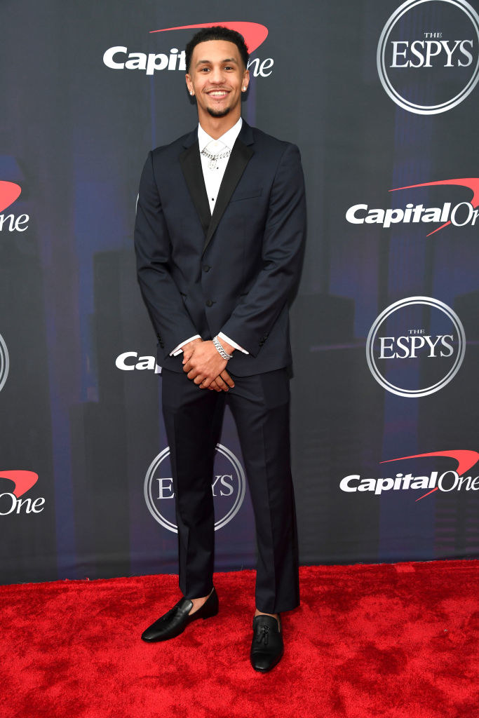 Jalen wore a traditional suit